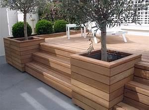 terrasses bois perret sas With wonderful photo de jardin avec piscine 13 fleurir un escalier