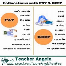 Pay And Keep  Collocations  English Collocations Pinterest