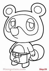 Nook Tom Template Crossing Animal Coloring Pages Draw Sketch sketch template