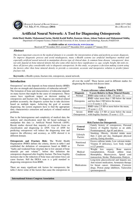 (PDF) Artificial Neural Network: A Tool for Diagnosing