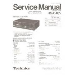 Visonik Wiring Diagram by Rs B465 Technics Service Manual Highqualitymanuals