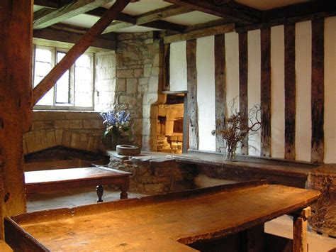 century medieval kitchen haddon hall manor house