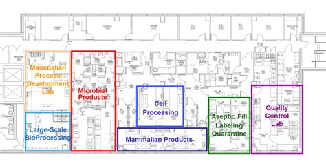 Facility Floor Plan | Facility | Waisman Biomanufacturing