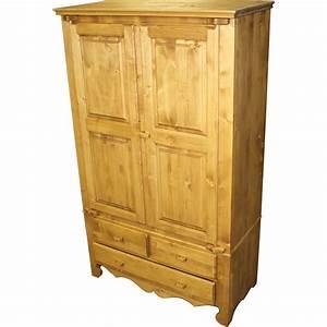 Armoire A Tiroir : armoire 2 portes 3 tiroirs ~ Edinachiropracticcenter.com Idées de Décoration