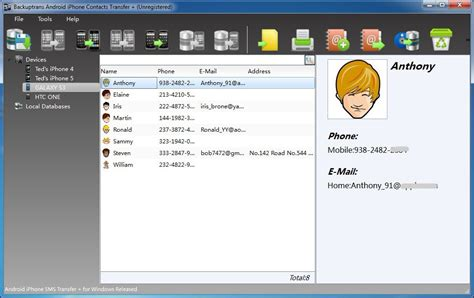transfer contacts android to iphone backuptrans android iphone contacts transfer