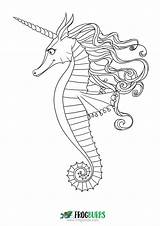 Seahorse Coloring Pages Colouring Outline Sea Printable Print Mandala Books Want Don Seahorses Under Pdf Getdrawings Drawing sketch template
