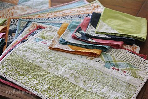 summertime sewing project placemats napkins nichol