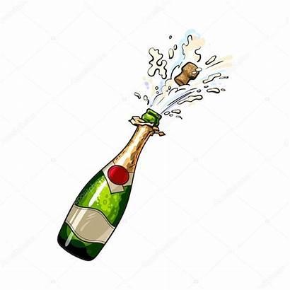 Champagne Bottle Popping Cork