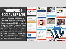 WordPress Social Stream by designchemical CodeCanyon