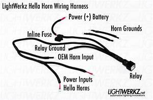 Subaru  Hella Horn Wiring Harness - Subaru Specific