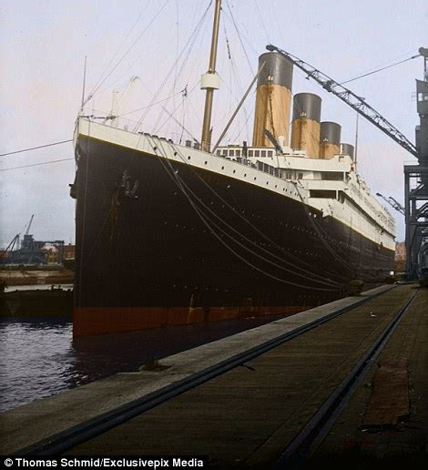 Titanic Boat Pictures by Colourised Images Show The Luxury Aboard The Titanic