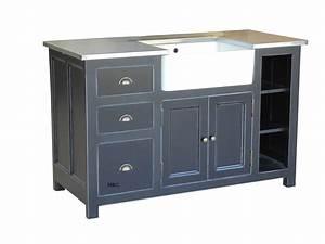 Evier Avec Meuble : meuble evier cuisine sur mesure ~ Teatrodelosmanantiales.com Idées de Décoration