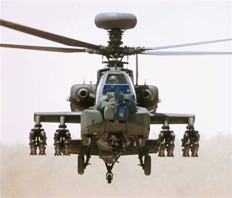 The Boeing Ah-64 Apache Is A Four-blade, Twin-engine