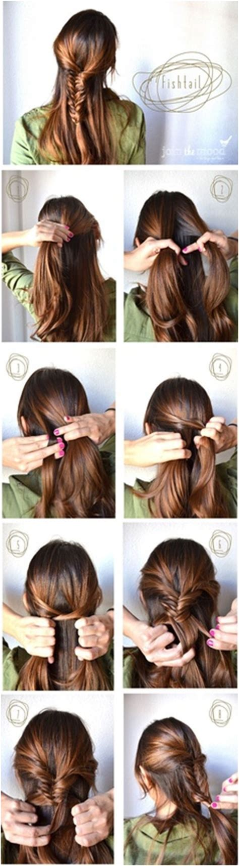 fishtail braided hairstyles tutorials trendy hairstyles
