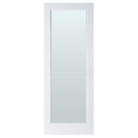 home depot interior glass doors masonite 32 in x 80 in sandblast full lite solid core primed mdf interior door slab with