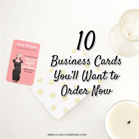 business cards youll   order  classy career