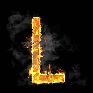 Burning and flame font L letter | Stock Photo | Colourbox