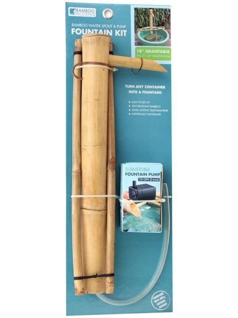 "Bamboo Adjustable Fountain Kit, 18""   Gardeners.com"