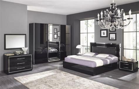chambre gris noir et blanc moderne chambre à coucher complète archzine fr