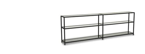 Low Black Bookcase by Vienna Bookcases Steelcase