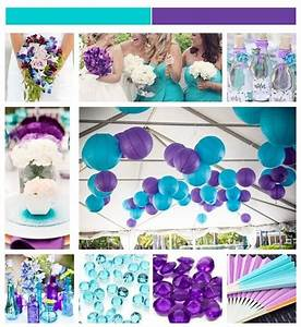 aqua turquoise and purple inspiration board weddings With purple and turquoise wedding favors