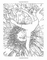 Coloring Adult Ballet Adults Ballerina Thomas Relaxing Result Kinkade sketch template