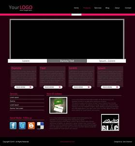 Simple website template by samsharland on deviantart for Simple homepage template