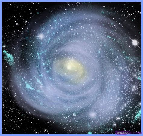 How To Draw A Galaxy, Step By Step, Outer Space, Landmarks