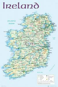 Map Of Ireland 2012   Print