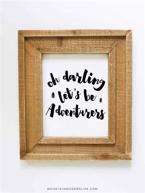 Oh Darling Lets Be Adventurers Printable