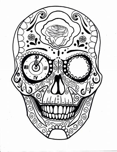 Skull Candy Coloring Drawing Pages Deviantart Clock