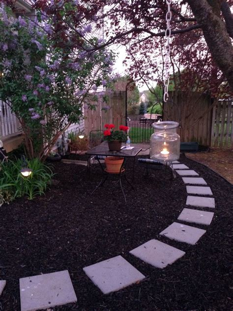Backyard Sidewalk Ideas by Mulch Pathway In Our Front Yard Easy And Inexpensive