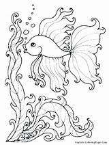 Coloring Pages Ocean Underwater Outdoor Scene Plants Waves Getcolorings Printable Print Easter Getdrawings Colorings sketch template