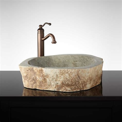 Sleek Stone Vessel Sink Signaturehardwarem