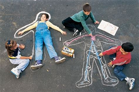 Make Your Own Skeletons With Our Outdoor Sidewalk Chalk