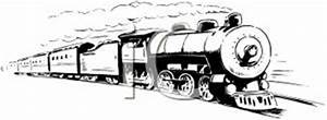 Train Engine Black And White Clipart - Clipart Suggest