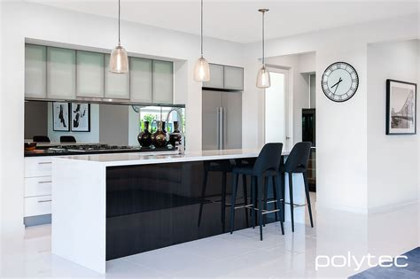 Glass Cupboards For Kitchens by Polytec Overhead Cupboard Doors In Aluminium 5mm 55mm