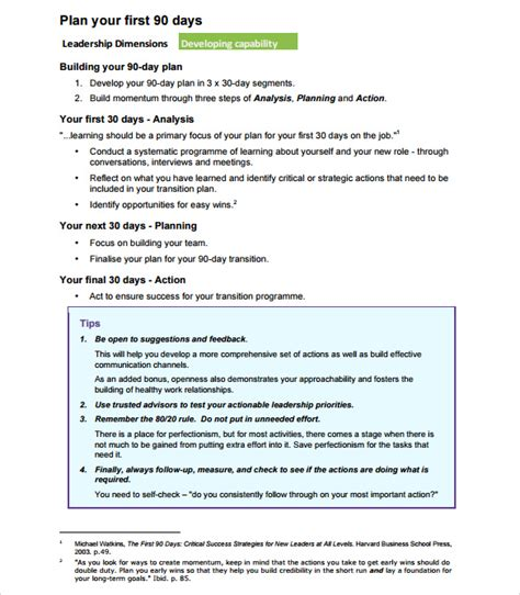 90 day plan template for new 12 sle 90 day plan templates sle templates