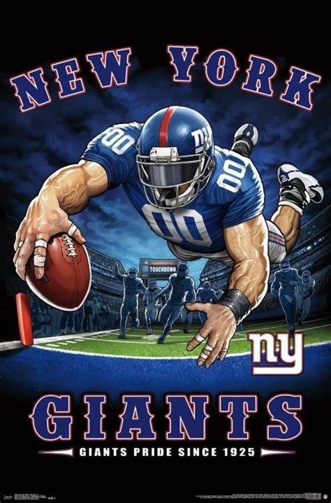 york giants  zone mascot poster  nfl