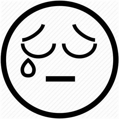Sad Crying Face Smiley Emoticon Tear Icon
