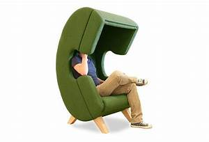 Colorful Contemporary Chairs in Headset Shape, Unique ...