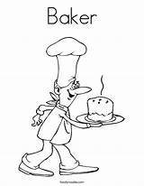 Baker Coloring Worksheet Job Bakery Grow Bread Want Congratulations Twistynoodle Outline Printable Drawing Chef Noodle Bakes Cook Pancake Tracing Built sketch template