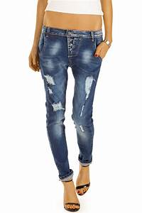 Damen Jeans Auf Rechnung : bestyledberlin damen destroyed baggy jeans damen hose mit eng zulaufendem bein und langem ~ Themetempest.com Abrechnung