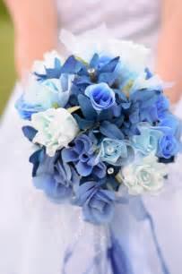 blue wedding flowers beautiful light blue wedding flowers