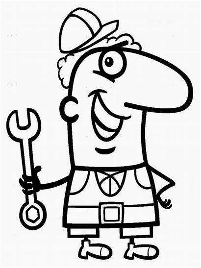 Mechanic Grease Coloring Pages Mechanics Tools Drawing