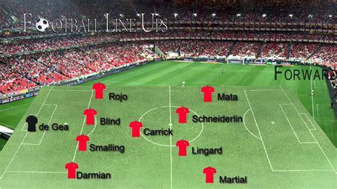 Manchester United vs Everton (Man United Starting Lineup ...