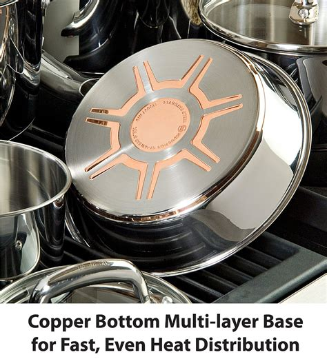 stainless steel cookware  copper core induction ready