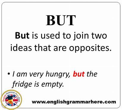Example Conjunctions Sentences Detailed Expression Grammar Conjunction