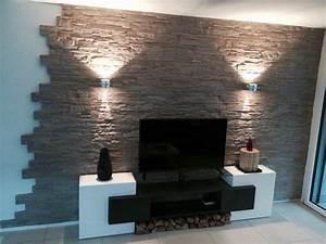 Wandgestaltung Mit Steinoptik : die besten 25 wandgestaltung wohnzimmer ideen auf pinterest wohnzimmer tv tv wand im raum ~ Markanthonyermac.com Haus und Dekorationen