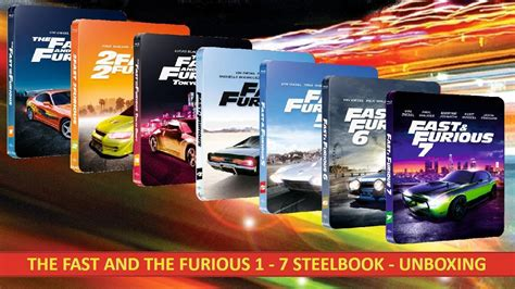 fast and furious 1 7 the fast and the furious 1 7 steelbook